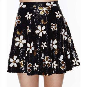 Nasty Gal Disco Daisy Sequin Skirt